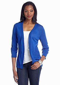 Kim Rogers® Solid Textured Waist Cardigan
