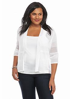 Kim Rogers Plus Size Sheer Cardigan