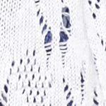 Plus Size Cardigans: White Kim Rogers Women's Plus Needle Pointelle Shrug