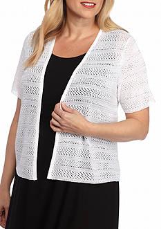 Kim Rogers Women's Plus Short Sleeve Shrug