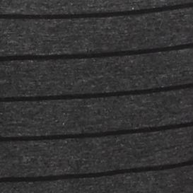 New Directionsâ Women's Plus Sale: Heather Charcoal/Black New Directions Plus Size Striped Shark-Bite Hem Top