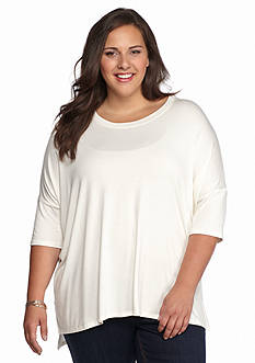 New Directions Plus Size Dolman Sleeve Top