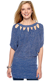 Jessica Simpson Laboho Lurex Cutout Sweater