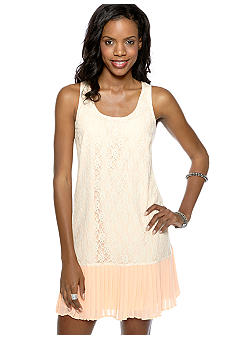 Jessica Simpson Gladys Lace Overlay Drop Waist Dress