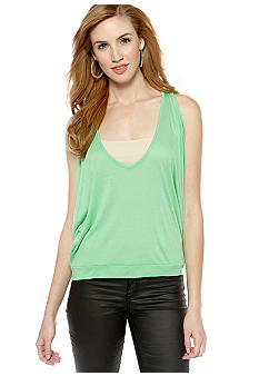 Jessica Simpson Blue Cross Back V-Neck Knit Tank