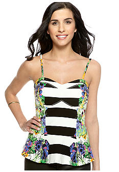 Jessica Simpson Avery Peplum Bustier Knit Top