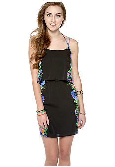 Jessica Simpson Lotus Layer Dress With Back Cutout