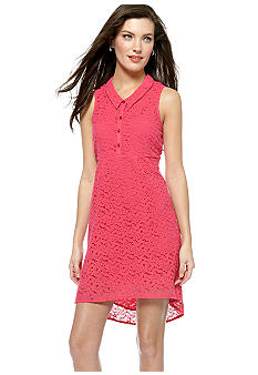 Jessica Simpson Sabi Baby Doll Back Cutout Lace Dress