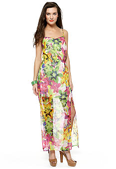 Jessica Simpson Madras Maxi Dress