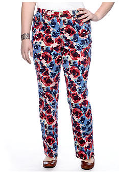 New Directions Weekend Plus Size Printed Floral Jean