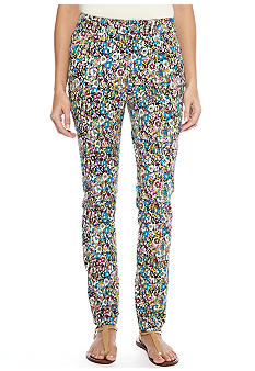 New Directions Weekend 5-Pocket Floral Denim