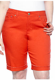 New Directions Weekend Plus Size Roll Cuff Bermuda Short
