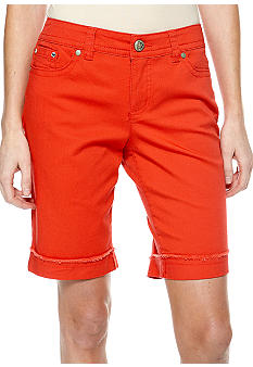New Directions Petite Cuffed Bermuda Short