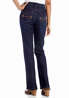 New Directions® Weekend Embroidered Pocket Boot Cut Jean