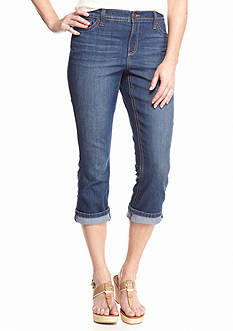 New Directions Weekend Roll Cuff Capris