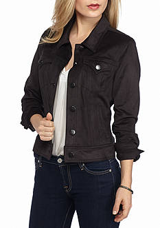 New Directions Petite Faux Suede Jacket