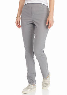 New Directions Weekend Petite Slim Pull-On Twill Pants
