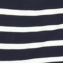 Plus Size Tees: Navy/Ivory/Washed Pink Pink Rose Plus Size Striped Contrast Knit Top