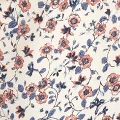 Pink Rose: Clay Floral Border Pink Rose Printed Zip Back Halter Top