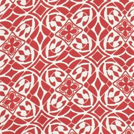 Pink Rose: Red Medallion Tile Pink Rose Printed Zip Back Halter Top