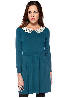 Jaloux Peter Pan Collar Sweater Dress
