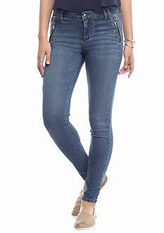 Celebrity Pink Zip Pocket Skinny Jeans