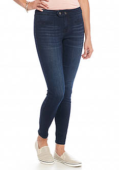 Celebrity Pink Mid Rise Moto Skinny Jeans