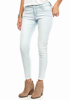 Celebrity Pink Fray Hem Skinny Jeans