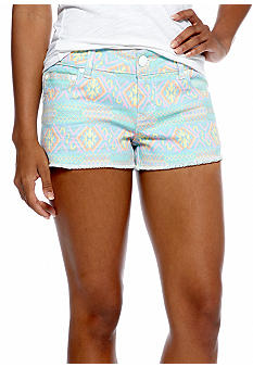 Celebrity Pink Multi Colored Frayed Hem Shorts