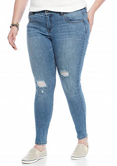 Celebrity Pink Plus Size Destructed Skinny Jeans