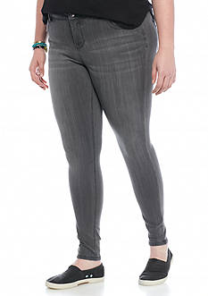 Celebrity Pink Plus Size Gray Wash Skinny Jeans