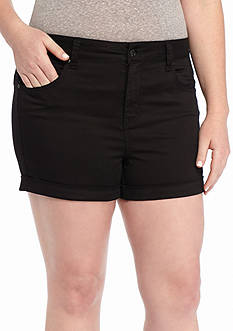 Celebrity Pink Plus Size Roll Cuff Colored Short