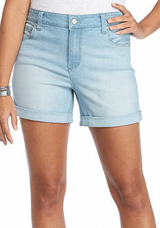 Celebrity Pink Plus Size Roll Cuff Jean Shorts