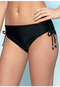 Maidenform Beach Solid Adjustable Hi Waist Swim Bottom