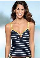 Nautica Spinaker Stripe Tankini Top
