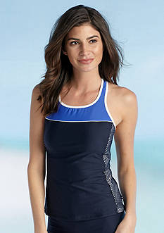 Nautica Top Block High Neck Tankini