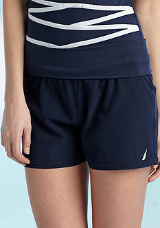 Nautica Rollover Waist Cover Up Short