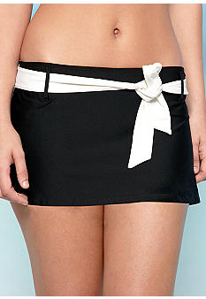 Eco Swim Belted Skirted Swim Bottom