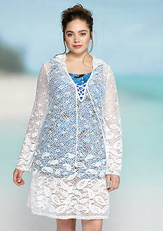 Dotti Plus Size Riviera Paisley Hooded Tunic