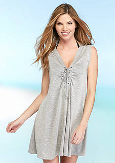 Dotti Opposites Attract Shirred Dress Cover Up