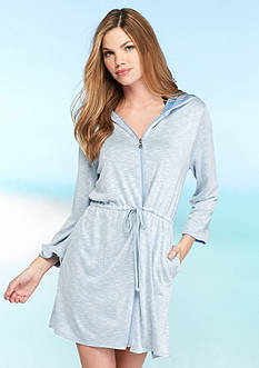 Dotti Opposites Attract Zip Hoodie Cover Up