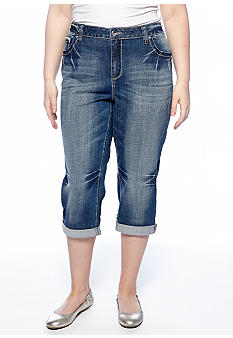 ZCO Jeans Plus Size Winged Cross Cropped Jeans