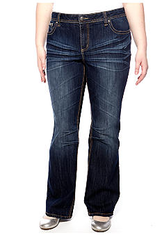 ZCO Jeans Plus Size Dark Jean with Embellished Back Pockets