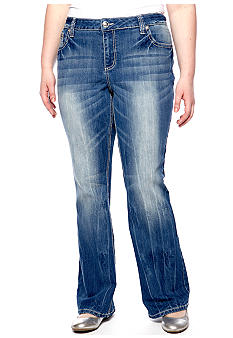 ZCO Jeans Plus Size Cross Embellished Jean