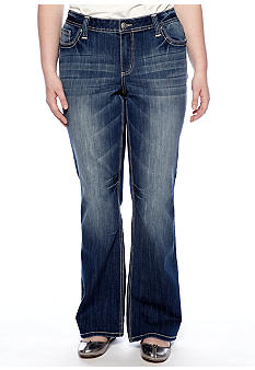 ZCO Jeans Plus Size Studded Flap Pocket Jean
