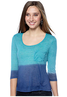 Red Camel Three-Quarter Sleeve Top