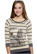 Red Camel® Long-Sleeve Stripe Screen Print Sweatshirt