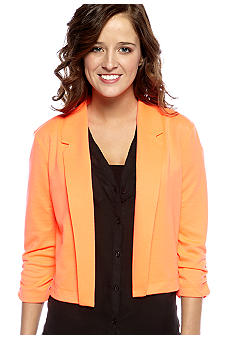 Red Camel Three-Quarter Sleeve Flyaway Blazer