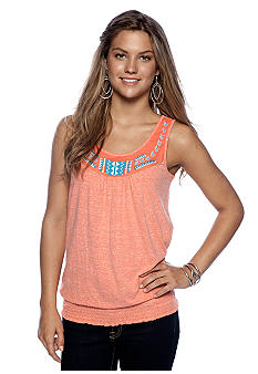 Red Camel Embellished Smock Tank