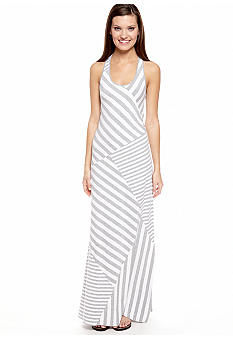 Calvin Klein Performance Spliced Stripe Maxi Dress